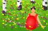 Woman In A Meadow Clip Art