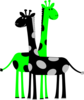 Black And Green Giraffes Clip Art
