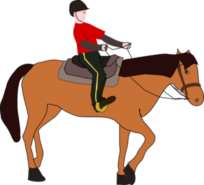 Horse Riding Lesson Clip Art