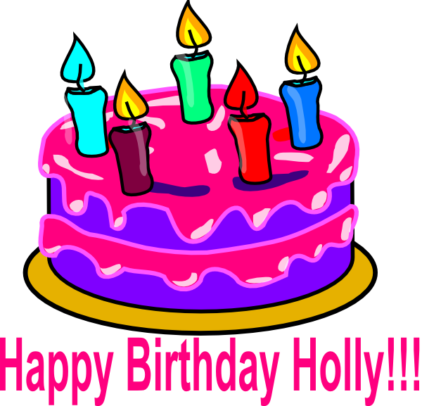 Happy Bday Holly Clip Art At Clker Com Vector Clip Art