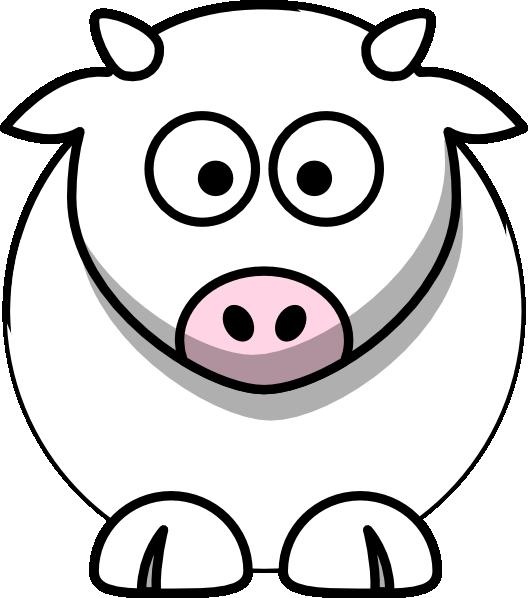 All White Cow Clip Art At Clker Com Vector Clip Art