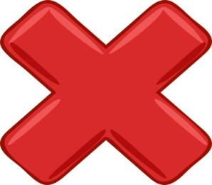 Red X Small Clip Art