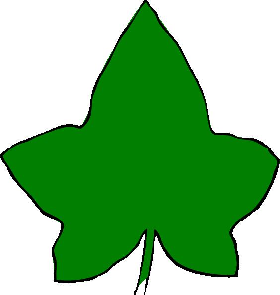 Ivy Leaf Big Green 3 Clip Art at Clker.com - vector clip