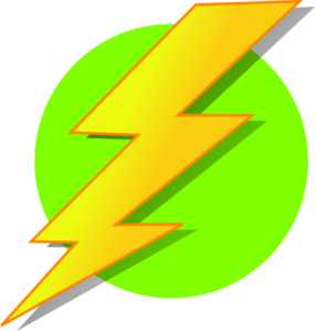 Lightning Green Circle Clip Art