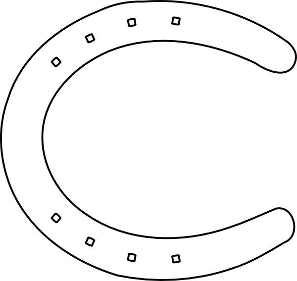 Double horseshoe template - photo#17