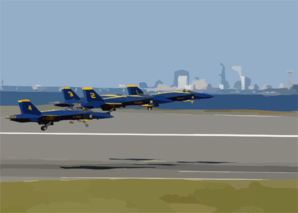 The U.s Navy S Flight Demonstration Team, The Blue Angels, Take Flight . Clip Art