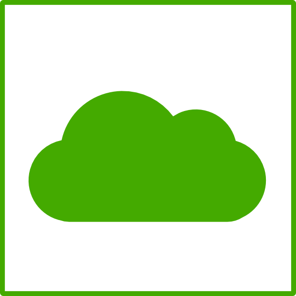 Green Cloud Icon Clip Art at Clker.com - vector clip art online ...