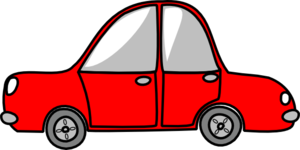 Car Red Simple Clip Art