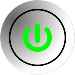 Button-green-on Clip Art