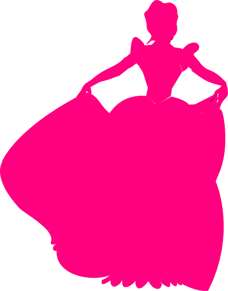 Pink Princess Silhouette Clip Art at Clker.com - vector clip art online, royalty free & public ...