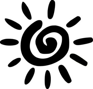 Cool Sun Clip Art Black And White
