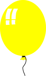 Yellow Balloon 2 Clip Art
