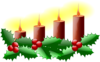 Lit Advent Candles Clip Art
