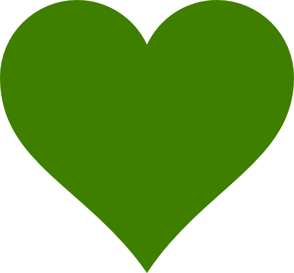 Solid Green Heart Clip Art at Clker.com - vector clip art ...