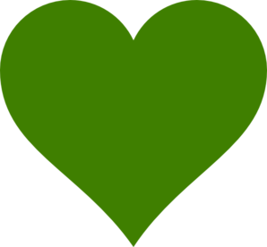 Solid Green Heart Clip Art