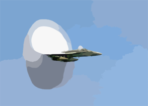 F/a-18 Hornet Breaks The Sound Barrier Clip Art