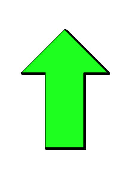 green arrow up clip art at clkercom vector clip art