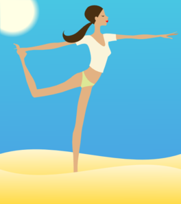 Woman Stretching Clip Art
