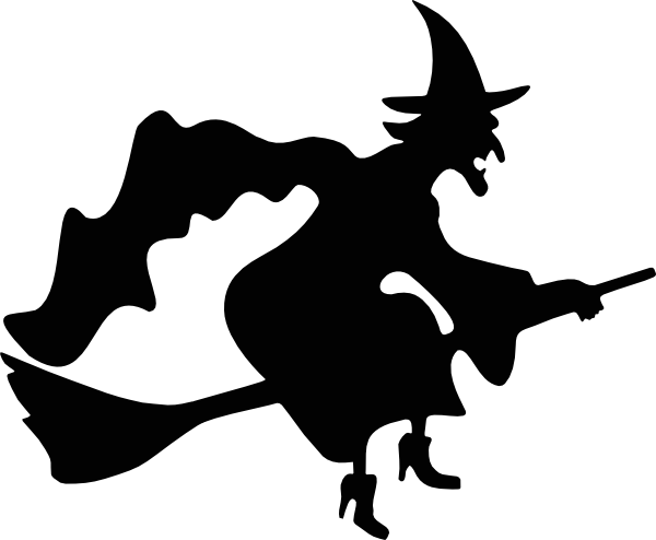 Stny siluety On Pinterest Witch Silhouette Witches