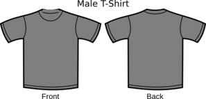 Grey T-shirt Template Clip Art