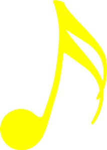 Yellow Music Note Clip Art