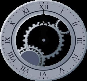 Midnight Clock Clip Art