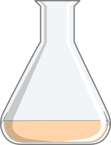 Flask - Orange Clip Art
