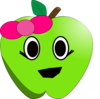 Smilling Little Apple Clip Art