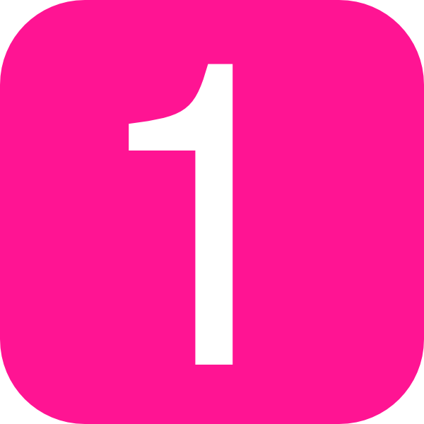 Pink, Rounded, Square With Number 1 Clip Art at Clker.com ...