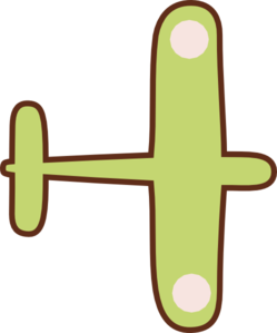 Green Brown Airplane Clip Art