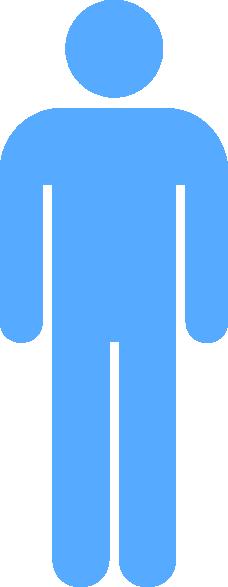 Blue Person Symbol Clip Art At Clker Com Vector Clip Art