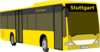 Yellow Coach Bus Clip Art