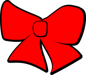 Hair Bow Red Clip Art