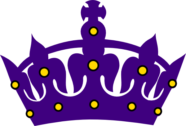 purple crown with gold clip art at clker com vector clip art rh clker com clipart king crown king crown clipart no background