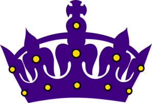 Purple Crown With Gold Clip Art