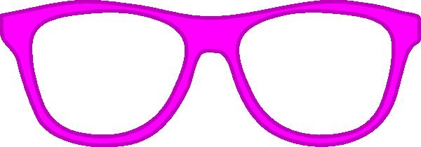 Pink Glasses Frame Front Clip Art at Clker.com - vector ...