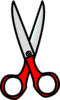 Red Scissors Clip Art