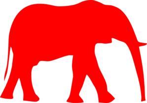 Elephant Red Clip Art
