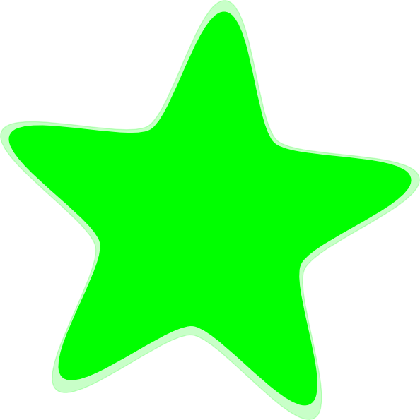 Light Green Star Clip Art at Clker.com - vector clip art ...