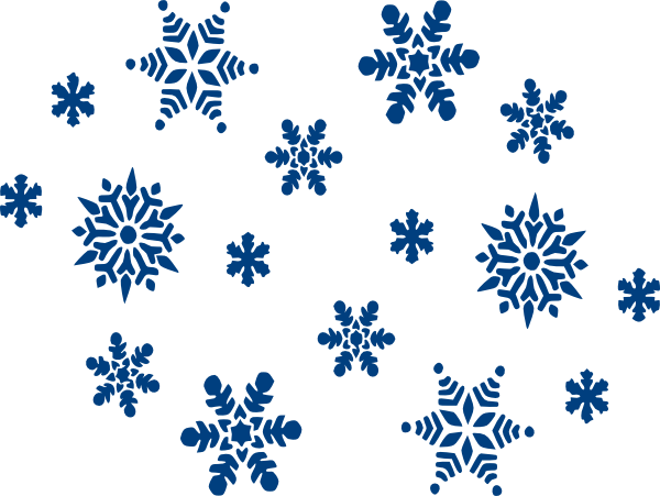 blue snowflakes clip art at clker com vector clip art online rh clker com snowflakes cliparts snowflake clipart black and white