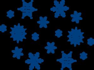 blue snowflakes clip art at clker com vector clip art online rh clker com free snowflake clipart images Snowflake Border Clip Art