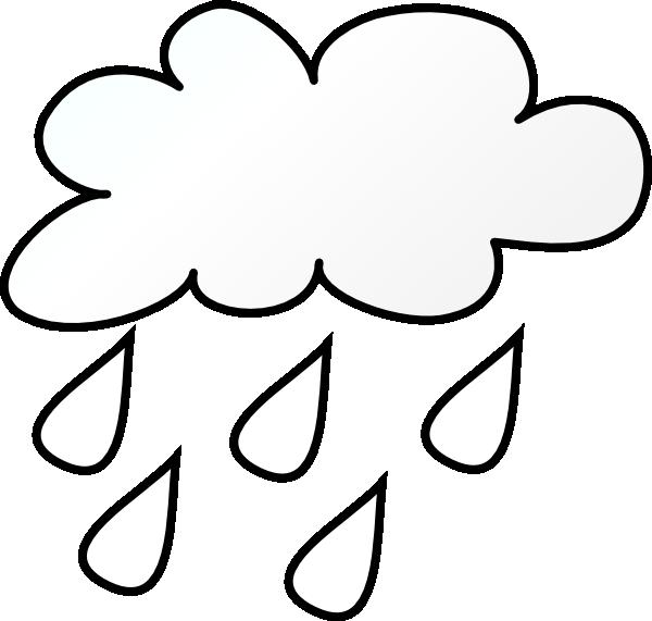 Raining Cloud Outlne Clip Art at
