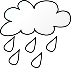 Raining Cloud Outlne Clip Art