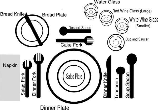 Formal Dinner Setting Clip Art At Vector Clip