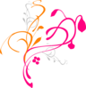 Orange Pink Vine Clip Art