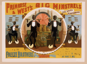 Primrose & West S Big Minstrels All White Performers. Clip Art