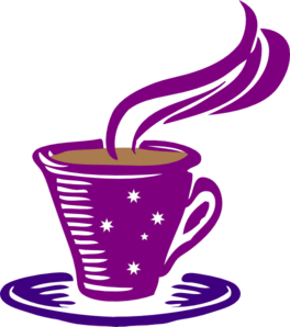 Star Coffee Purple Clip Art