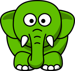 Green Elephant Clip Art