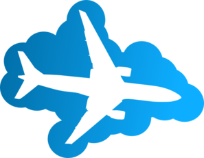 Plane Silhouet In The Sky Clip Art