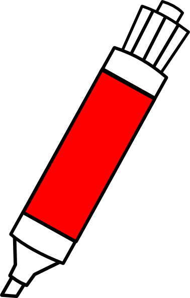 Clipart Red Dry Erase Marker on pen eraser